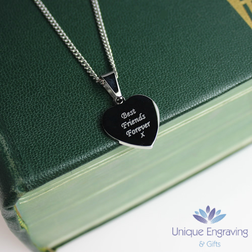 Unique Photo Engraved Mini Heart Pendant